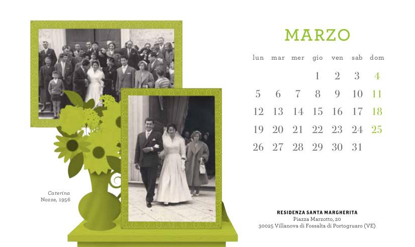 Il calendario per il 25mo della residenza